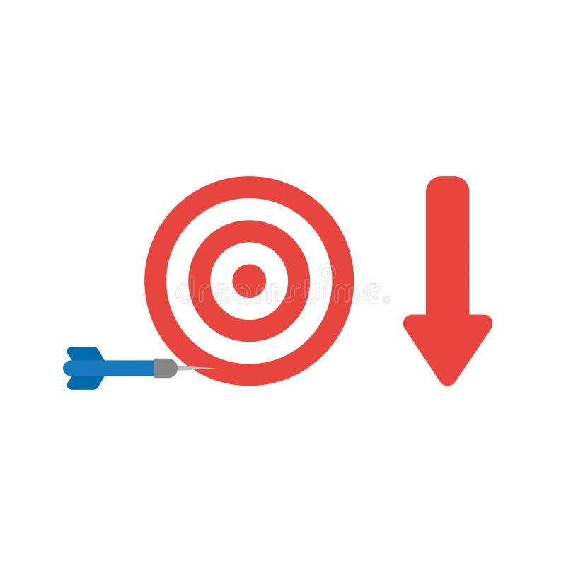Vector концепция значка глаза быков и сметывайте несоосность цель с a иллюстрация штока