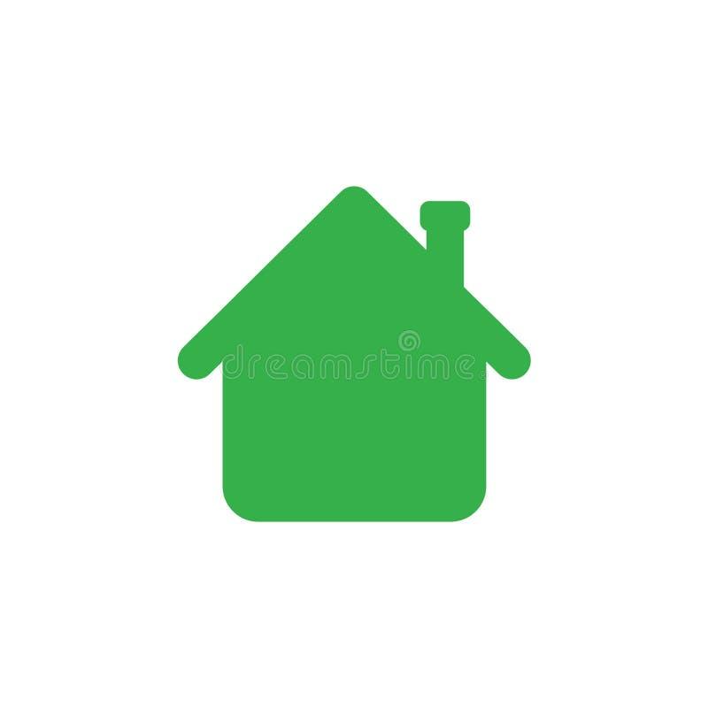 Vector концепция значка дома показывая вверх в форме o стрелки иллюстрация штока