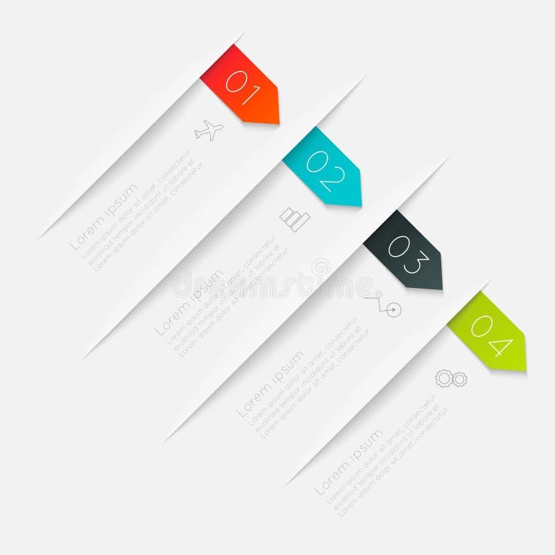 Vector красочные графики информации для ваших представлений дела иллюстрация вектора