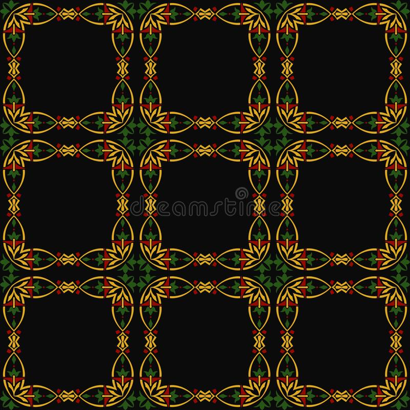 Vector кривой квадрата предпосылки картины штофа cro безшовной круглый иллюстрация штока