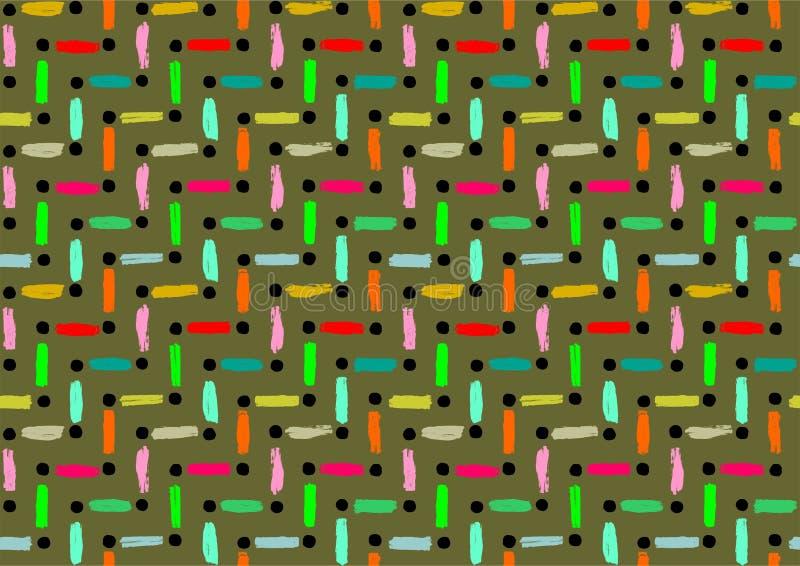 Vector линии и точки, декоративные безшовные картины, геометрическая абстрактная предпосылка вектора, современная картина печати, иллюстрация вектора