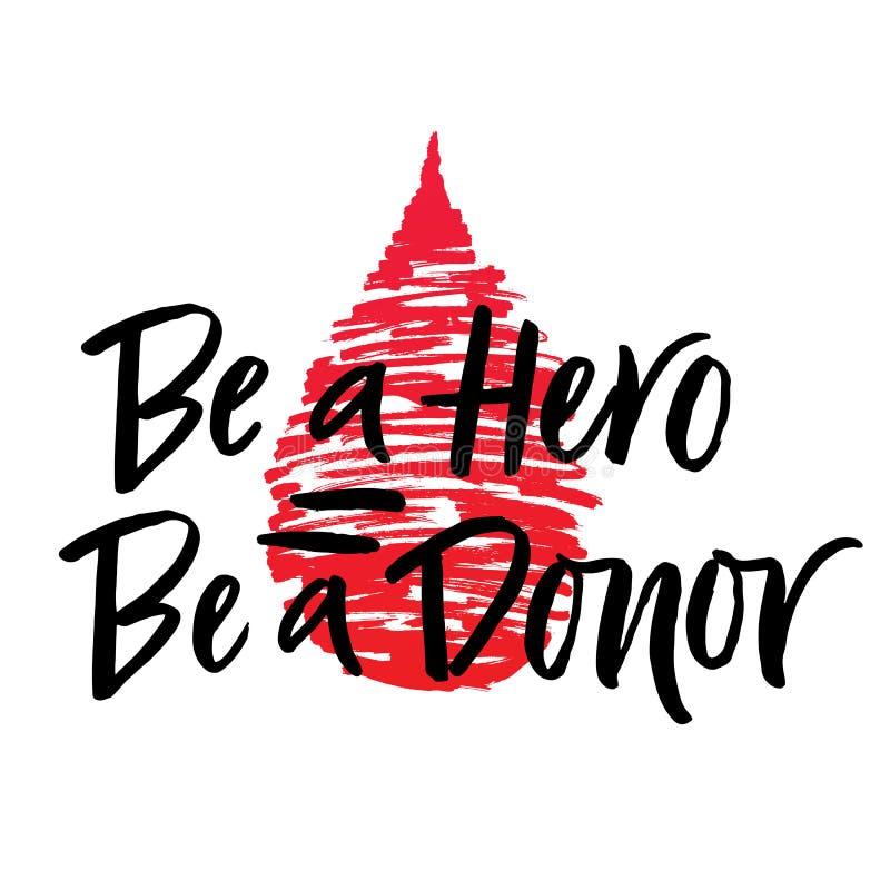 Vector литерность текста герой даритель с падением крови бесплатная иллюстрация