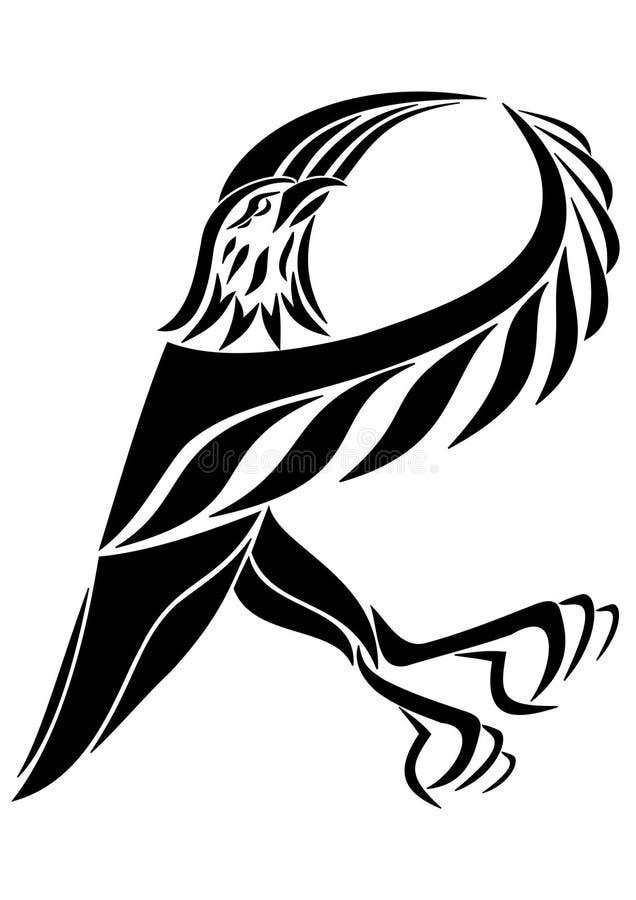 Vector логотип орла изолированного на белой предпосылке бесплатная иллюстрация