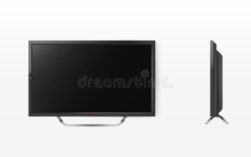 Vector модель-макет экрана lcd, ТВ, телевидение плазмы бесплатная иллюстрация