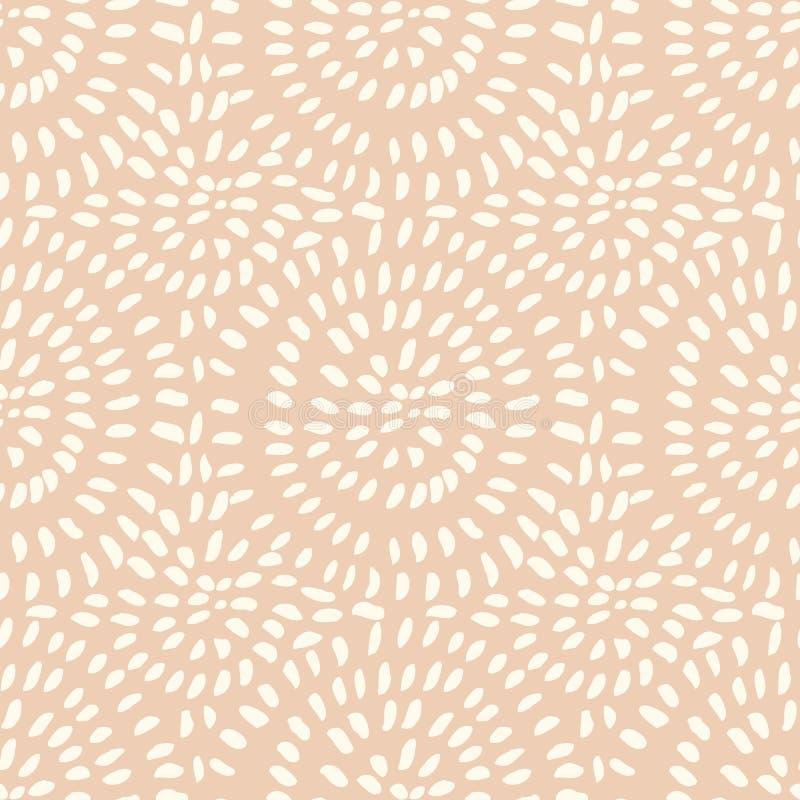 Vector нарисованная вручную стильная безшовная картина с ходами чернил иллюстрация вектора