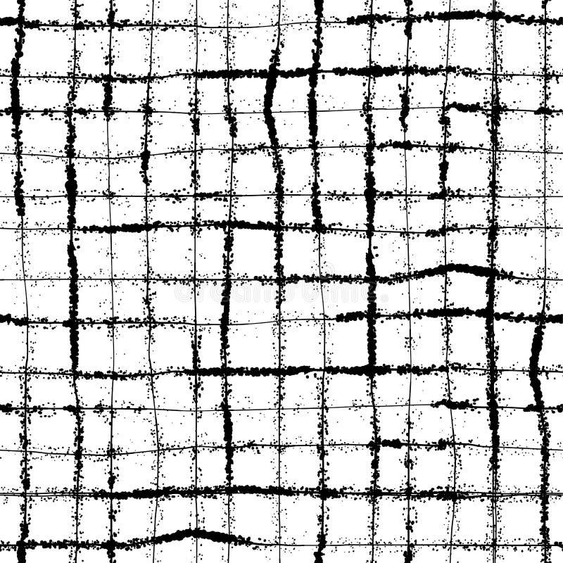 Vector нарисованная рука striped и картина точки польки безшовная иллюстрация штока