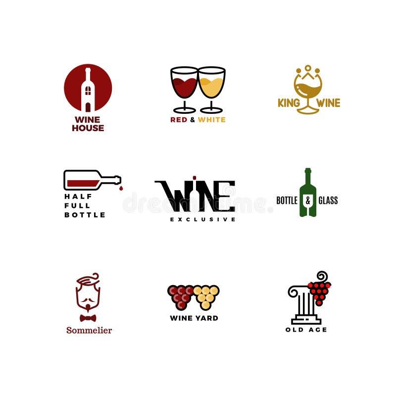 Vector логотип концепции для бара, меню ресторана иллюстрация штока