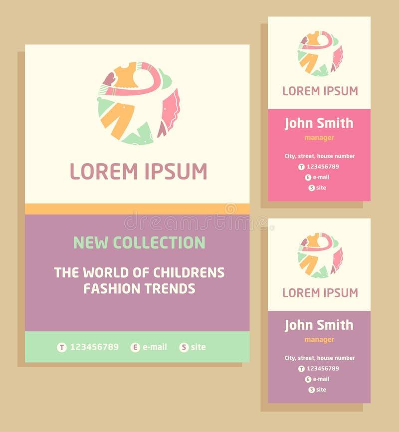 Vector логотип, рогулька и визитная карточка для a бесплатная иллюстрация