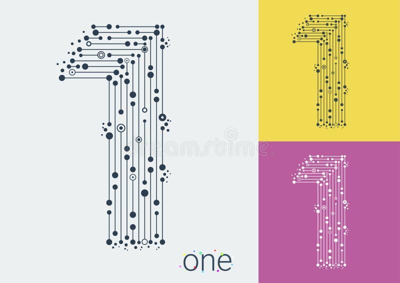 Vector одно на яркой и красочной предпосылке Шрифт Luxurios бесплатная иллюстрация