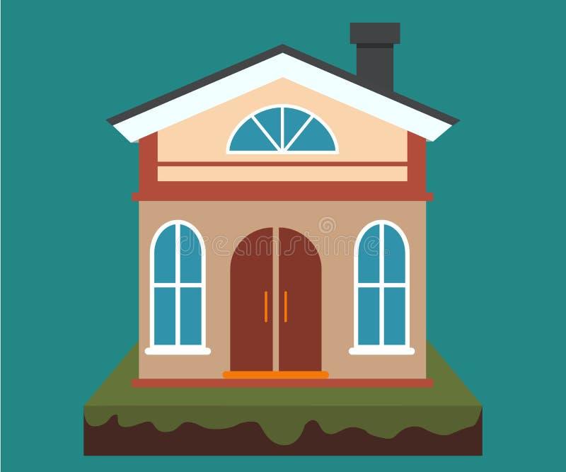Vector домой, прокат дома и недвижимость в плоском стиле шаржа с иллюстрацией дома бесплатная иллюстрация
