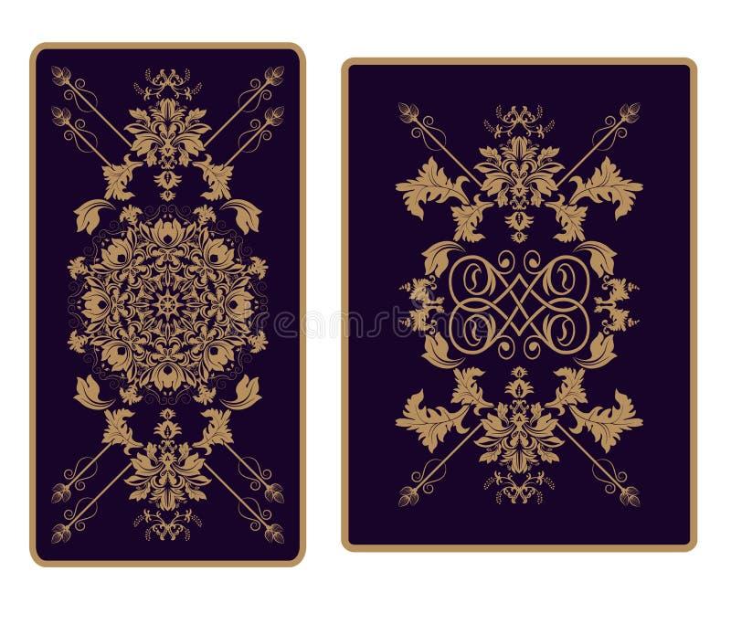 Vector орнамент шаблона для Tarot и играя карточек, печати бесплатная иллюстрация