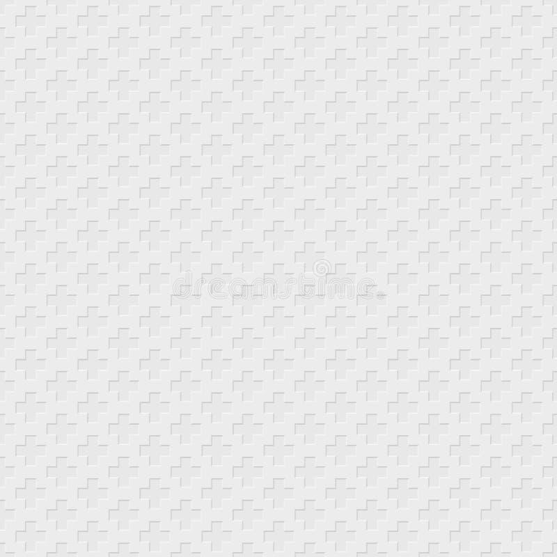 Vector перекрестная картина - геометрическая безшовная простая светлая черная и иллюстрация штока
