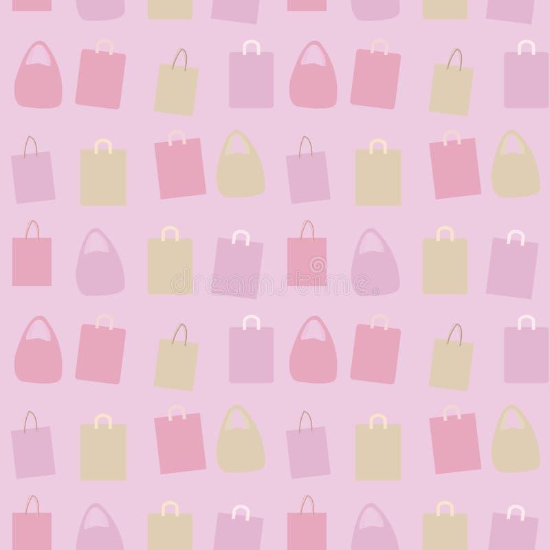 Vector покрашенный бумагой состав группы пакетов с пинком картины предпосылки ручек безшовным бесплатная иллюстрация