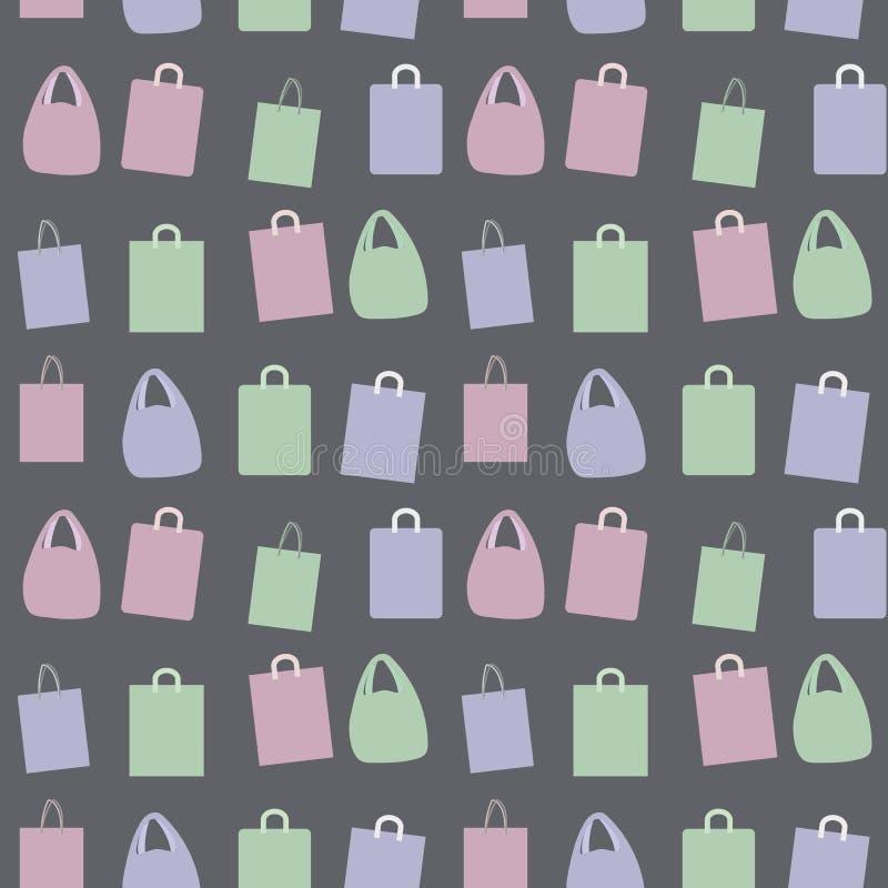 Vector покрашенный бумагой состав группы пакетов с темнотой картины предпосылки ручек безшовной - серым цветом бесплатная иллюстрация