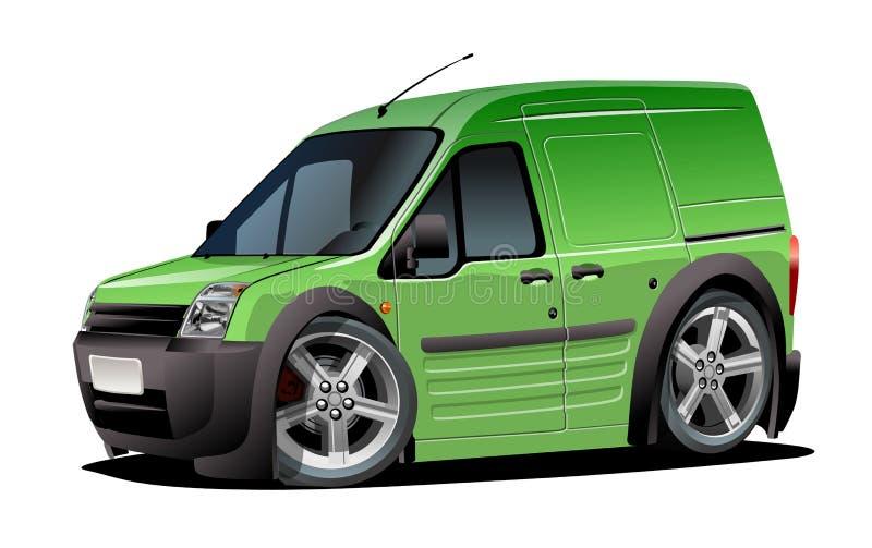 Vector предпосылка белизны om фургона поставки шаржа изолированная иллюстрация штока