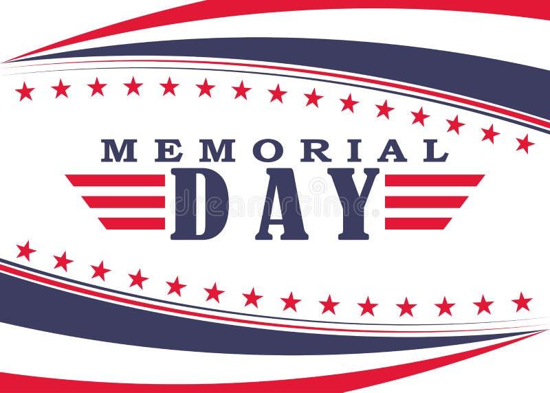 Vector предпосылка Дня памяти погибших в войнах с звездами, нашивками и литерностью Шаблон на День памяти погибших в войнах иллюстрация вектора