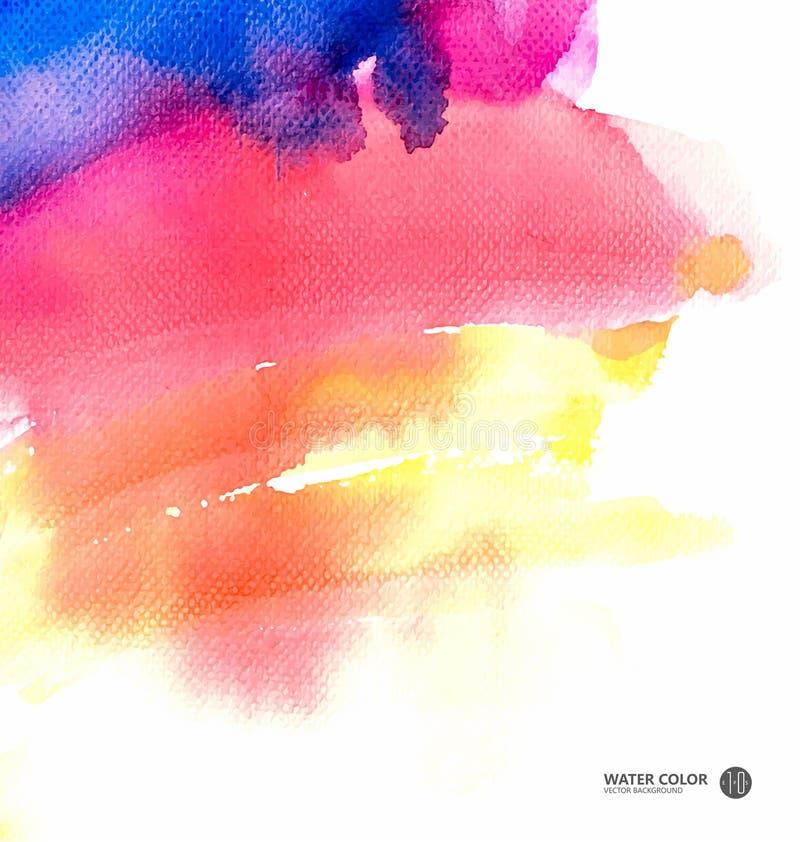 Vector предпосылка картины акварели, влияние акварели, акварель, покрашенные вручную переводы бесплатная иллюстрация