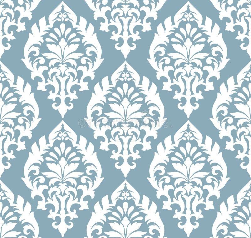 Vector предпосылка картины штофа безшовная Классический роскошный старомодный орнамент штофа, королевская викторианская безшовная иллюстрация вектора