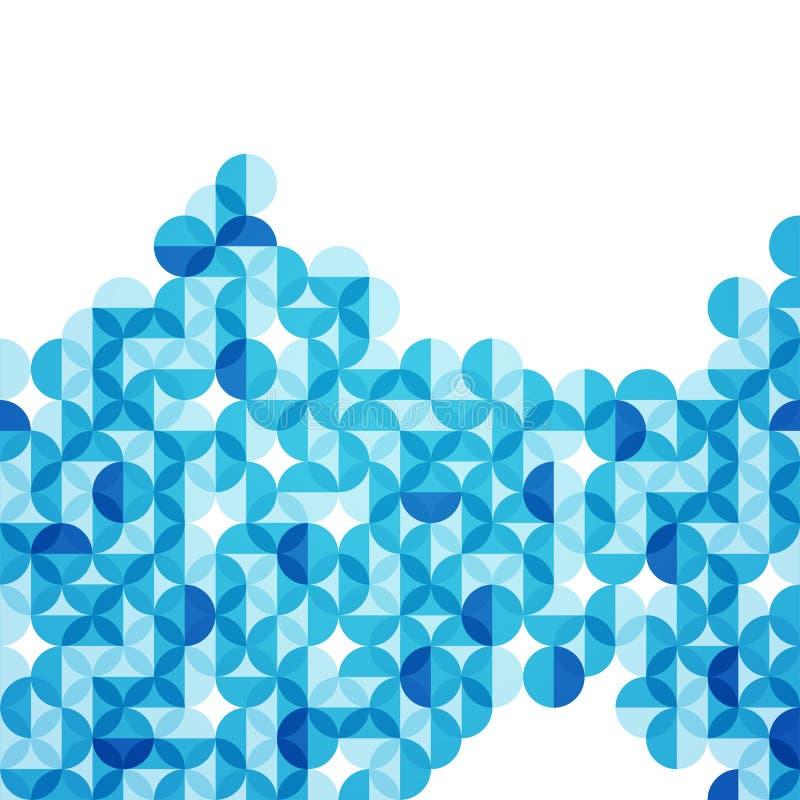 Vector предпосылка конспекта круга иллюстрации голубая современная геометрическая бесплатная иллюстрация