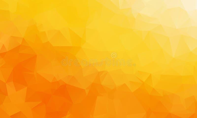 Vector предпосылка треугольника полигона абстрактная современная полигональная геометрическая Оранжевая геометрическая предпосылк иллюстрация штока