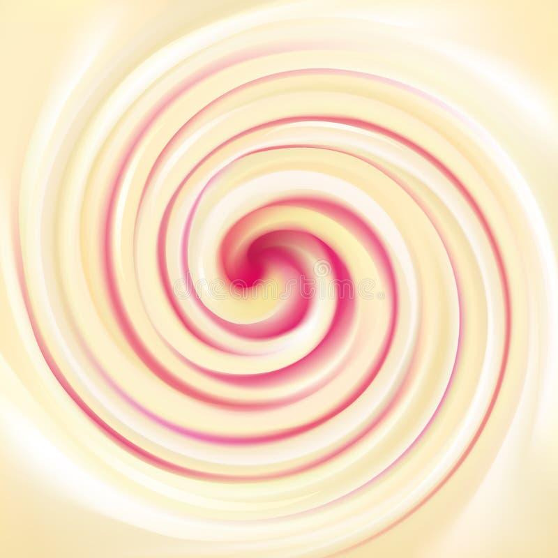 Vector предпосылка завихряясь сливк молокозавода текстуры с поленикой бесплатная иллюстрация