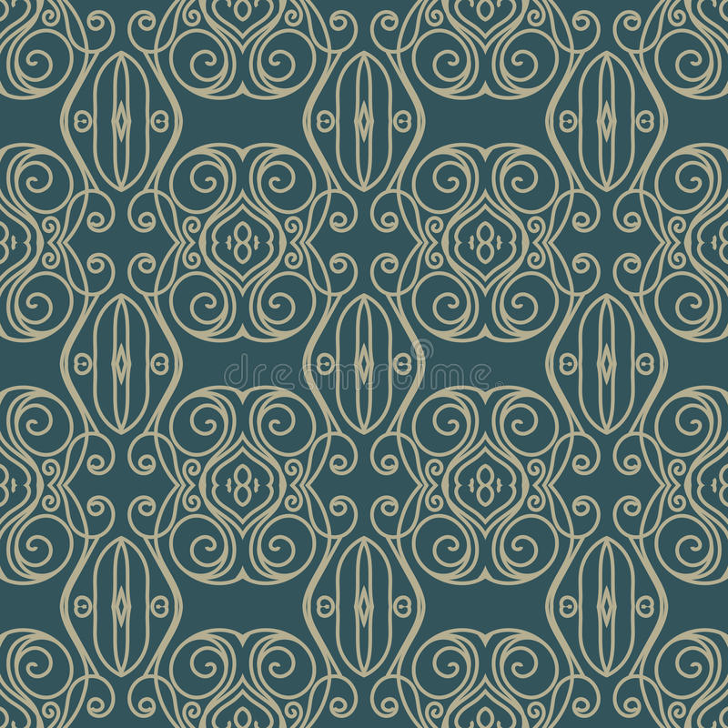 Vector предпосылка картины штофа безшовная Элегантная роскошная текстура для обоев, предпосылки и страница заполняют иллюстрация вектора