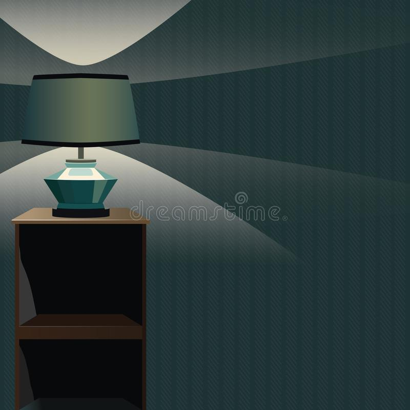 Vector прикроватный столик с лампой и светом ночи background card congratulation invitation Форма eps10 бесплатная иллюстрация
