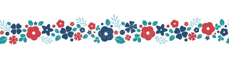 Vector плоская предпосылка цветков и ягод, творческая картина цвета иллюстрация вектора