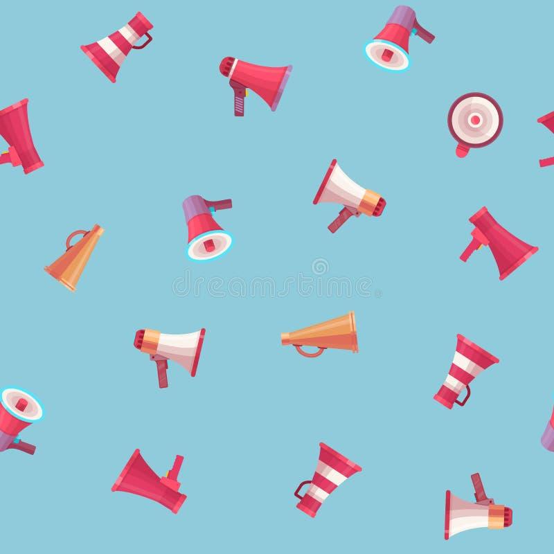 Vector размер иллюстрации плоского голоса мегафона управлением диктора тома голоса мегафона говоря различный модельный мега и бесплатная иллюстрация