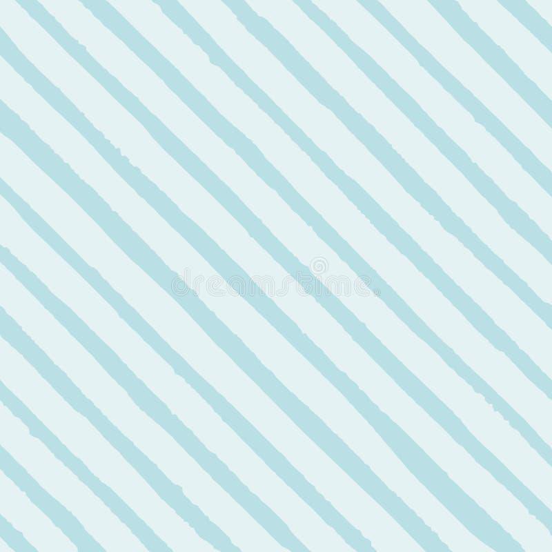 Vector раскосная картина голубых нашивок безшовная на светлой предпосылке Текстура для вашего дизайна бесплатная иллюстрация