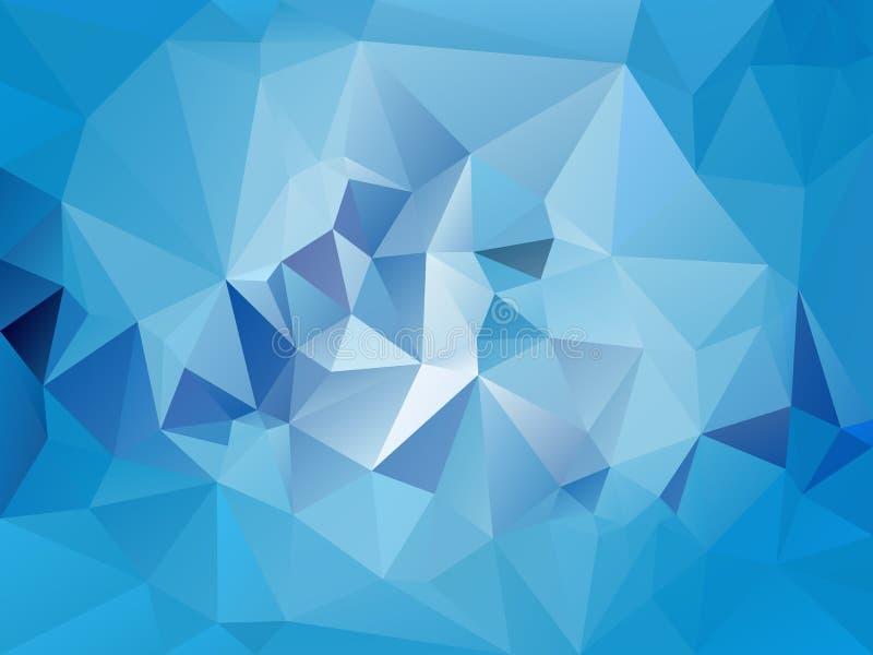 Vector скачками предпосылка полигона с картиной треугольника в светлом небесно-голубом цвете иллюстрация вектора
