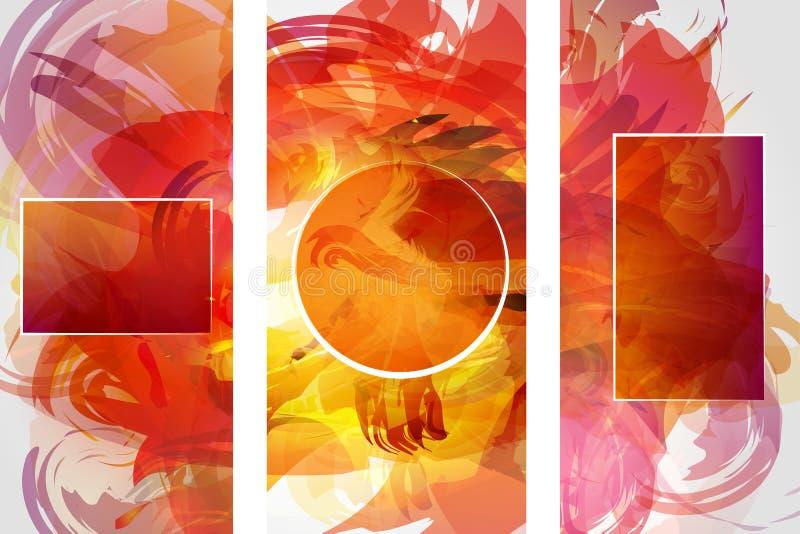 Vector собрание форм знамени изолированное на белой предпосылке Нарисованные рукой абстрактные установленные ходы кисти бесплатная иллюстрация