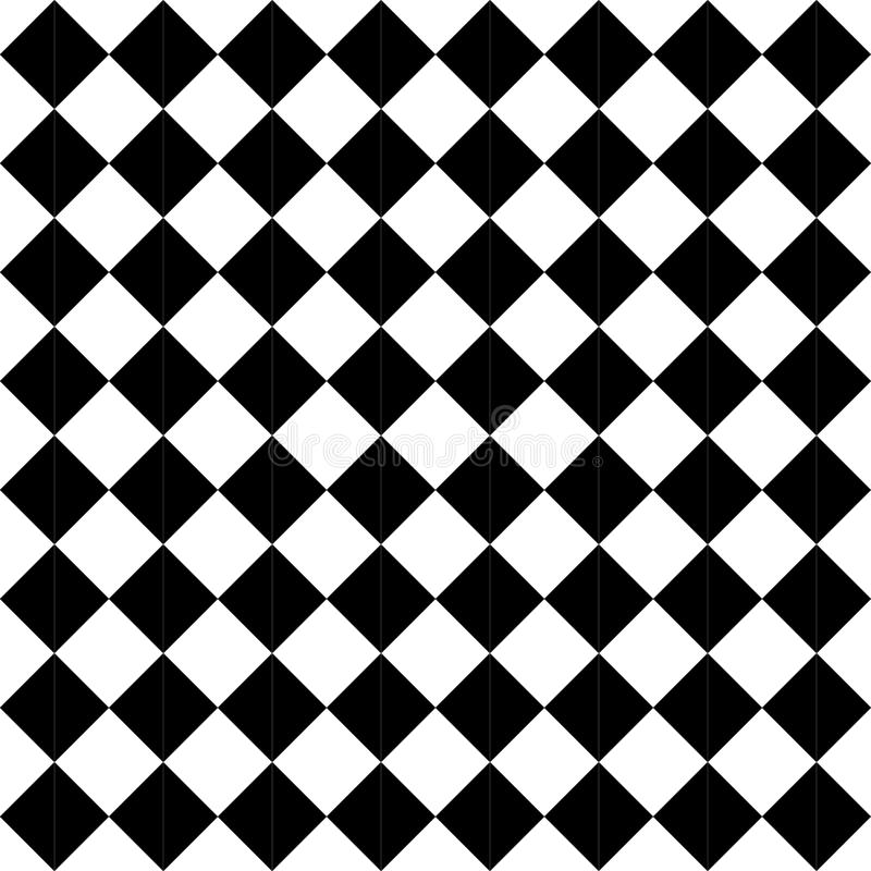 Vector современная безшовная картина checkered, черно-белый конспект геометрии иллюстрация штока