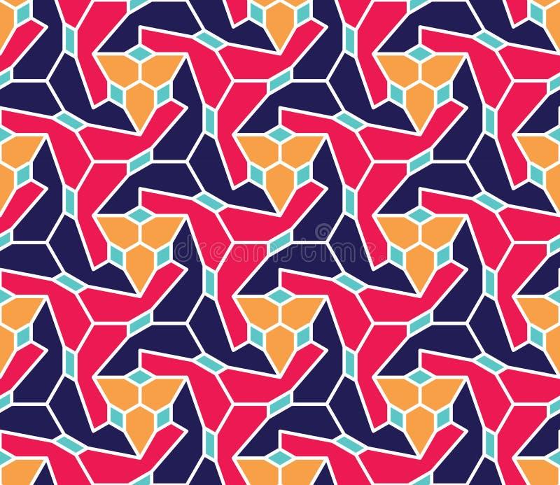 Vector современная безшовная красочная картина геометрии, конспект цвета иллюстрация вектора