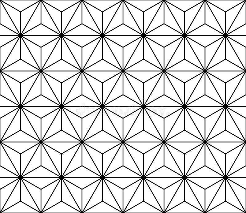Vector современная безшовная священная картина геометрии, черно-белый конспект иллюстрация вектора