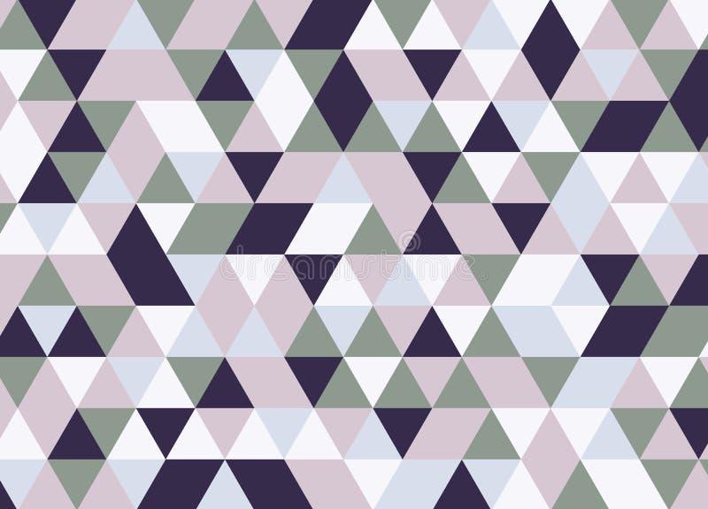 Vector современная красочная картина треугольника геометрии, конспект цвета иллюстрация штока