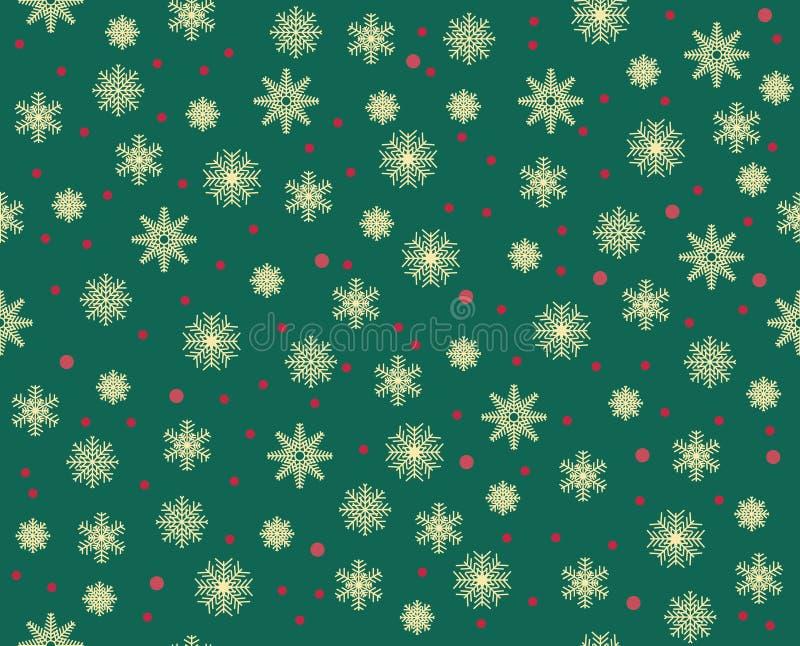 Vector современные безшовные красочные снежинки картины рождества геометрии, конспект цвета иллюстрация вектора