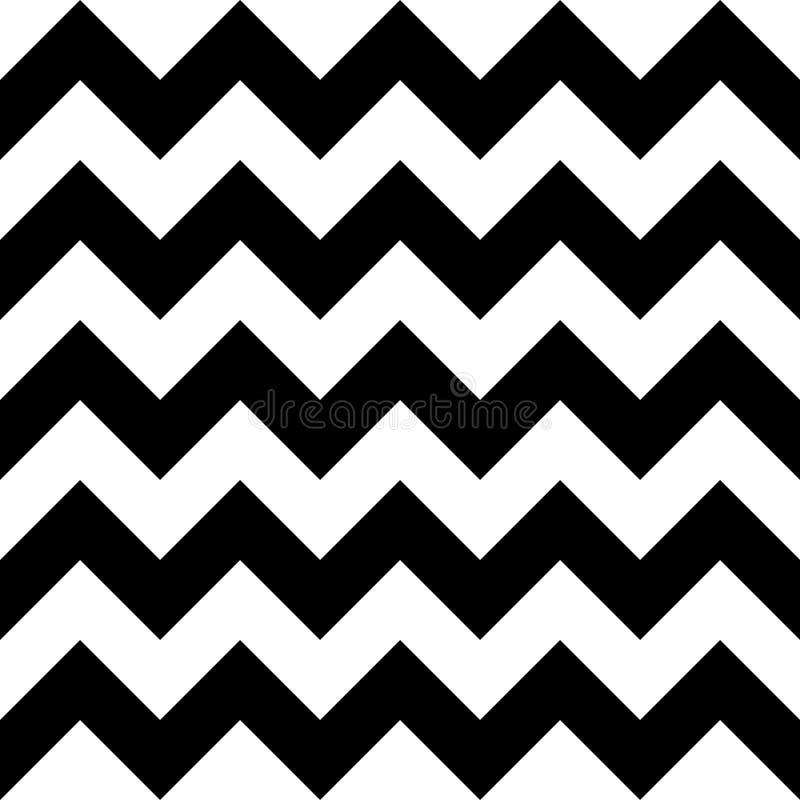 Vector современный безшовный шеврон картины геометрии, черно-белый конспект иллюстрация штока