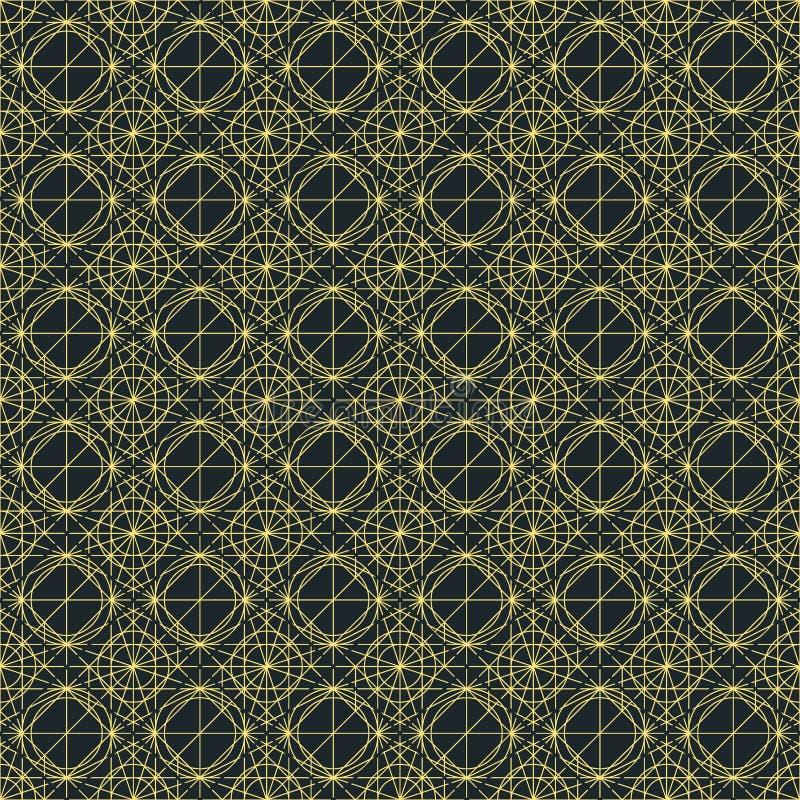 Vector темная безшовная картина с вплетать тонких линий бесплатная иллюстрация
