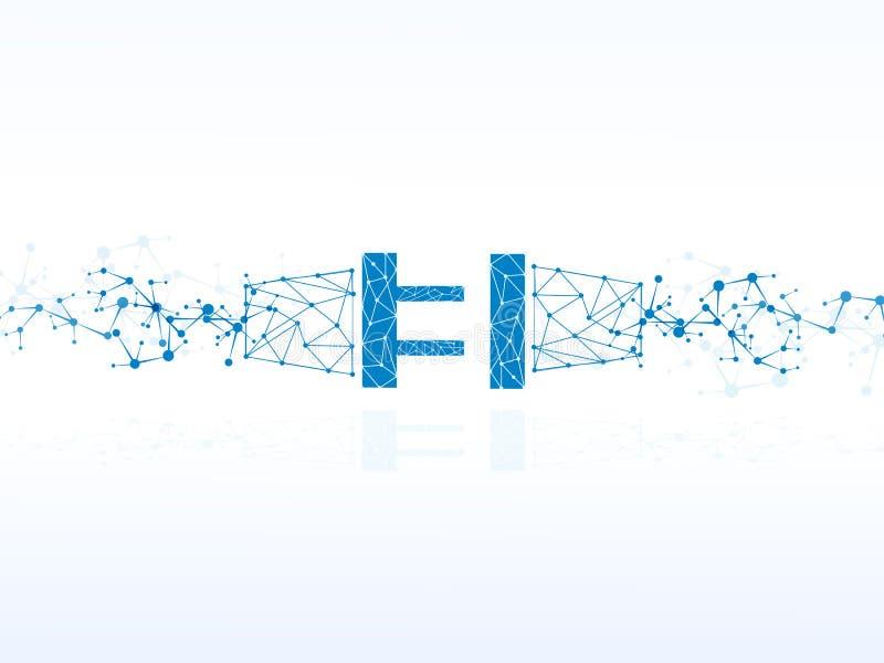 Vector технология дизайна, соединение штепсельной вилки, предпосылка электричества иллюстрация штока