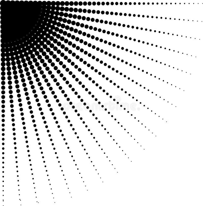 Vector умаляя точки полутонового изображения в направлении округлять стоковые фото