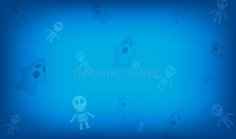Vector фестиваль хеллоуина и милые персонажи из мультфильма и sk бесплатная иллюстрация