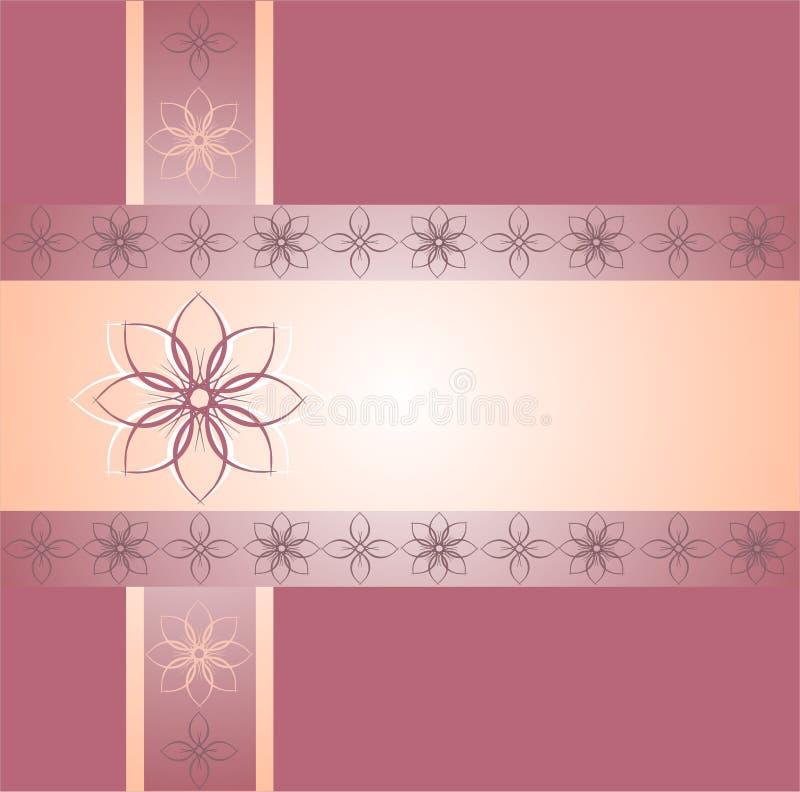 Розовые флористические орнаментальные границы бесплатная иллюстрация