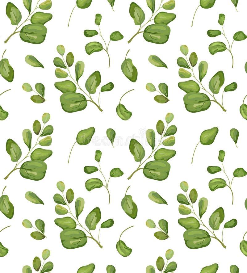 Vector хлев акварели безшовной предпосылки patten растительности флористический бесплатная иллюстрация