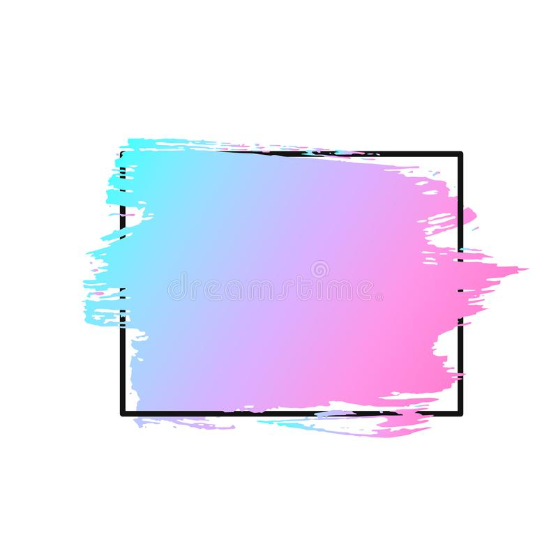 Vector ход, щетка, линия или текстура кисти Пакостные художнические элемент, коробка, рамка или предпосылка дизайна для текста иллюстрация штока