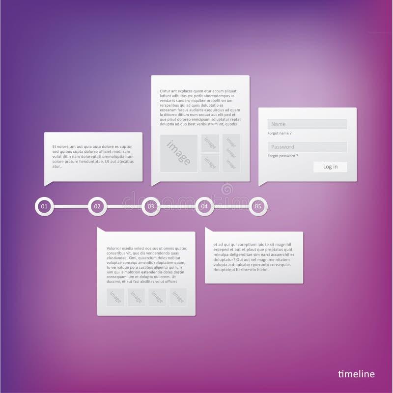 Vector шаблон срока - минимальный дизайн с местом для вашего внутри иллюстрация штока