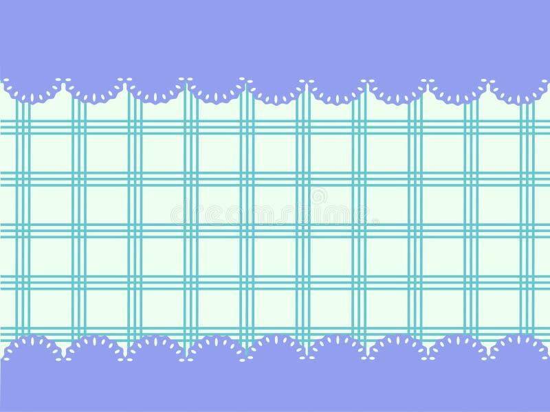 Vector шнурки рамки с тартаном - космосом для текста иллюстрация штока