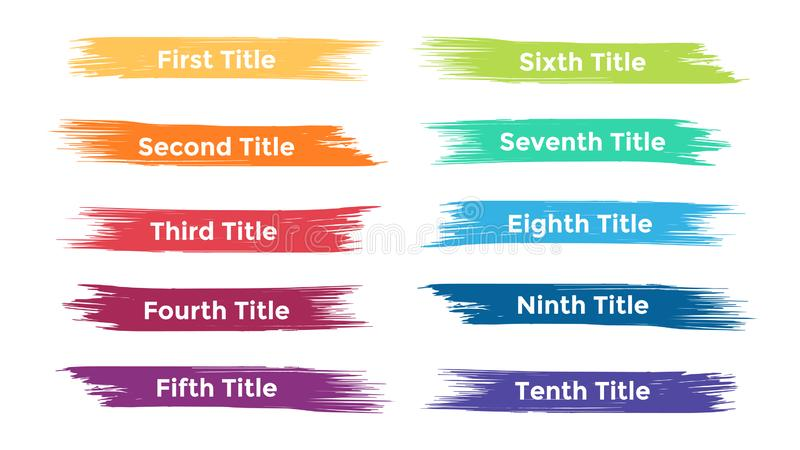 Vector щетка infographic, диаграмма, ярлыки диаграмма brushstroke, представление стикеров Концепция дела с 10 вариантами бесплатная иллюстрация
