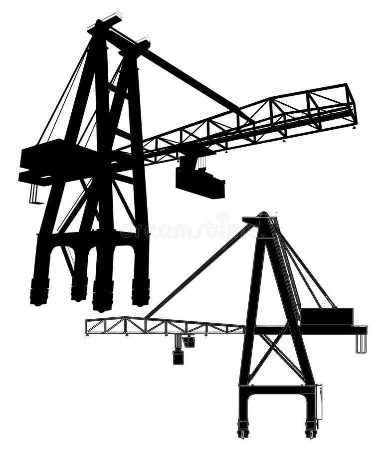 Vector 01 de la grúa de pórtico stock de ilustración