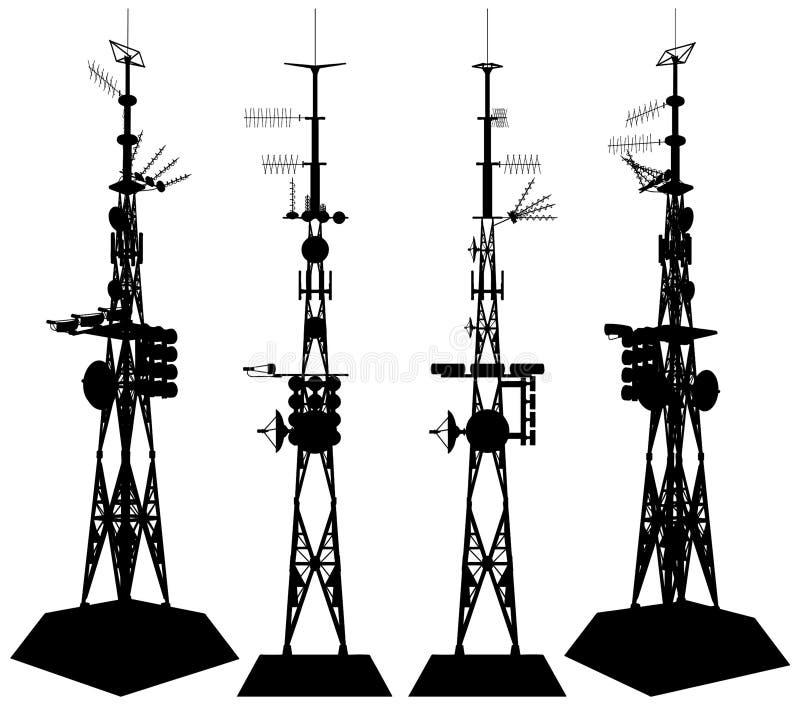 Vector 01 de la torre de las telecomunicaciones stock de ilustración